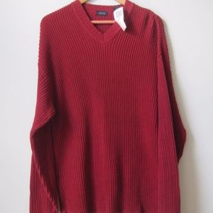 Mens IZOD Sweater S Pullover V-neck Cable Knit NEW